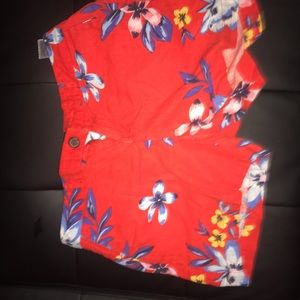 Red flower print shorts old navy